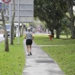 senior jogging